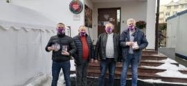 Członkowie Kolskiego Sztabu WOŚP w warszawskiej Fundacji