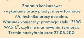 """Konkurs plastyczny  """"ŻYWNOŚĆ – JA NIE MARNUJĘ !"""""""